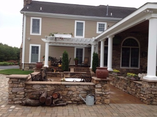 Custom patio in Annapolis, Maryland.