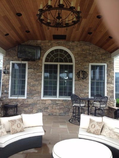 Stone work on home in Annapolis, MD.